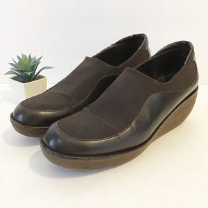 DONALD J. PLINER leather wedge shoes size 8 m